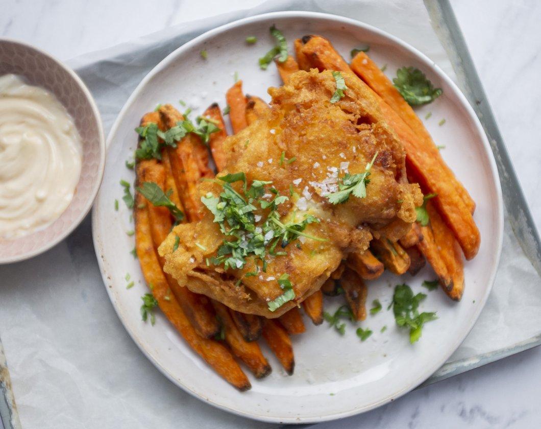 Fish and chips - dorsz w cieście piwnym